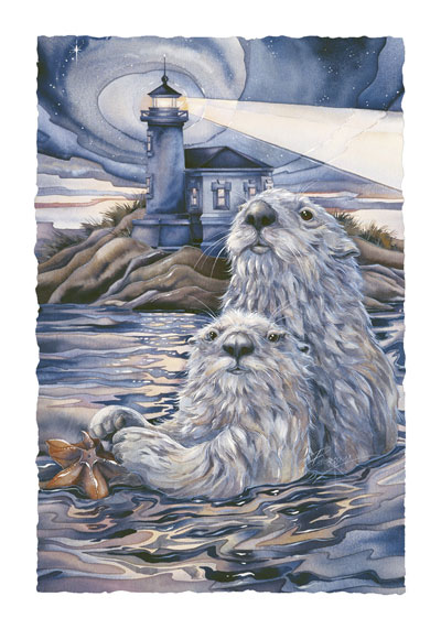 Otters / Star Light, Star Bright - Art Card