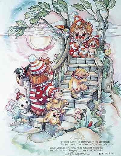 Clowns... - DreamKeeper Print