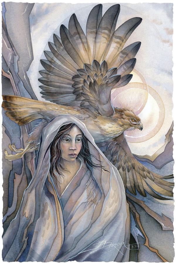 Lady Hawk - Prints