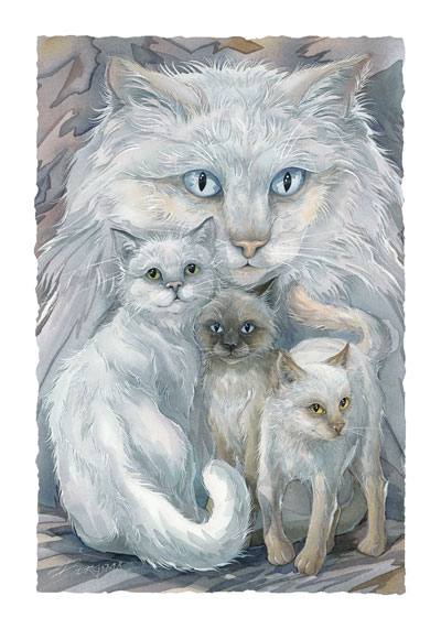 Cats / Soul Friends - Art Card