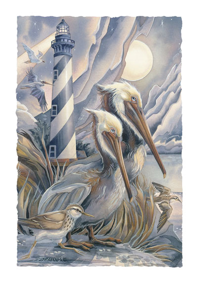 Pelicans / Life Is Beautiful... - Art Card