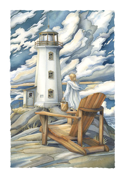 Lighthouses / Let Love Be The Light That Leads You Home - Art Card