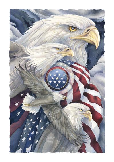 Eagles (Bald) / Together We Stand... - Art Card