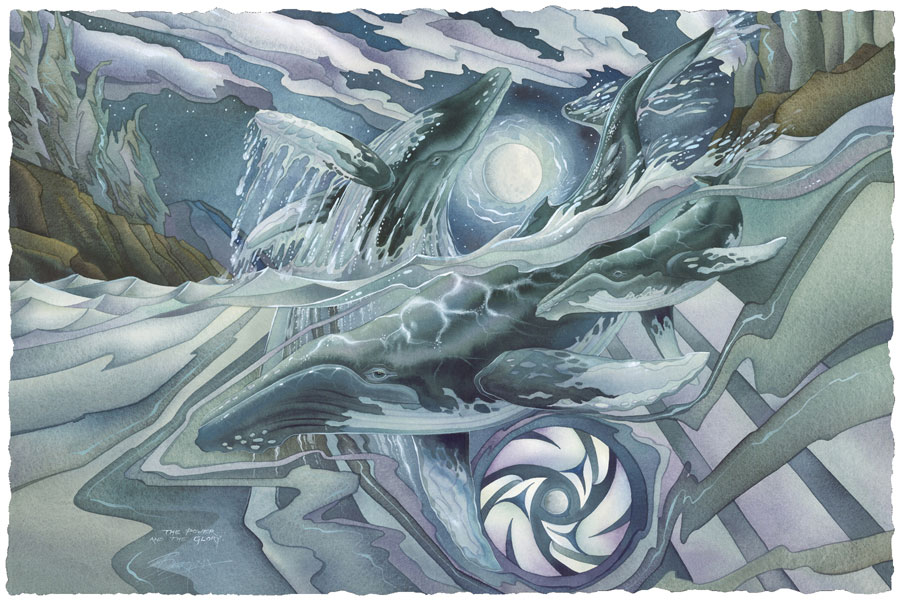 Whales (Humpback) / Whale Kingdom - Art Card