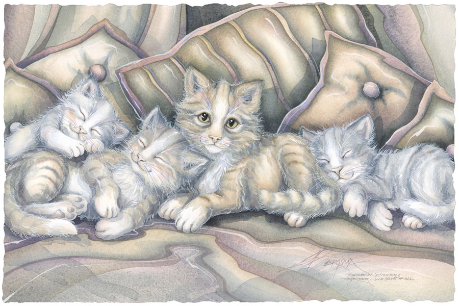 Cats / Fur-ends - Art Card