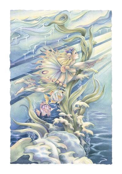 Mermaids & Sea Faeries / Follow A Dream - Art Card