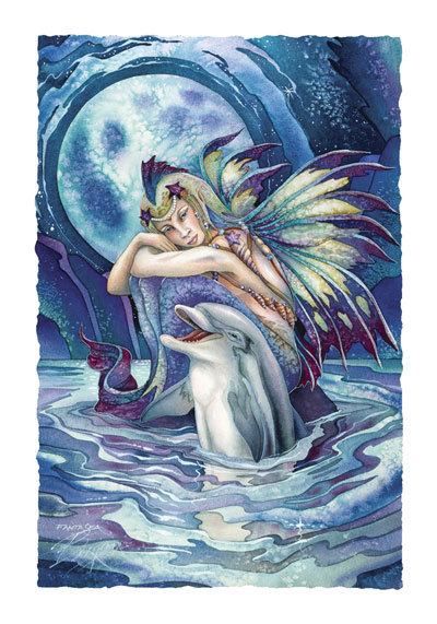 Mermaids & Sea Faeries / Fantasea... Where Dreams Begin - Art Card