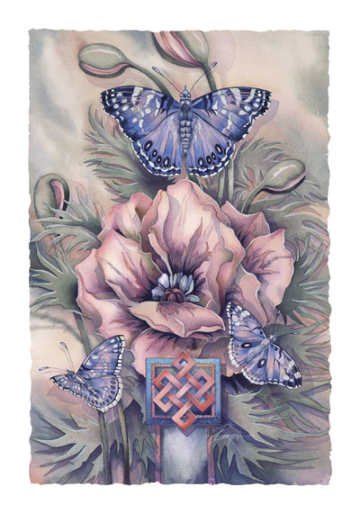Butterflies / The Journey Never Ends - Art Card