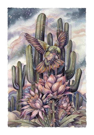 Hummingbirds / Jewel Of The Desert - Art Card
