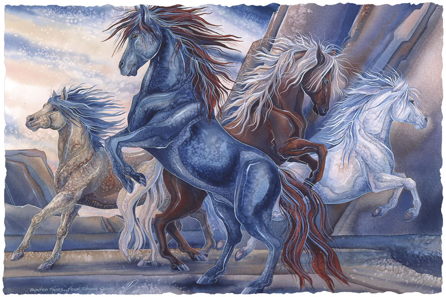 Horses / Wild Winds - Art Card