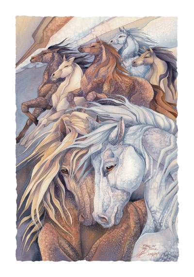Horses / Fire In The Soul - Art Card