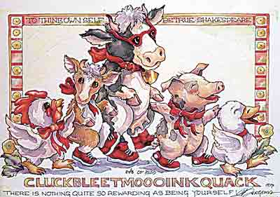 CLUCKBLEETMOOOINKQUACK - DreamKeeper Print