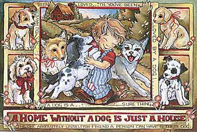 A Home Without A Dog Is Just A House - DreamKeeper Print