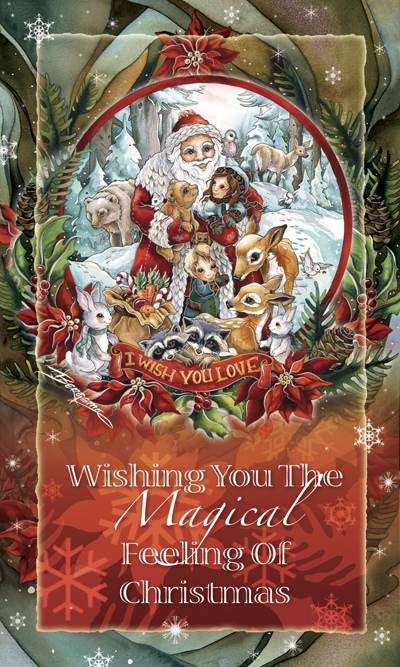 Wishing You the Magical Feeling of Christmas - Mailable Mini
