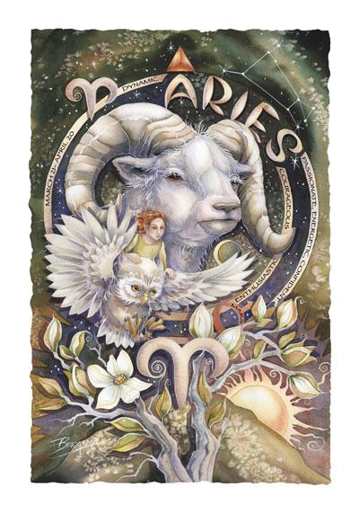 Zodiac Series / Aries - Art Card