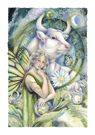 Zodiac Series / Taurus - Art Card