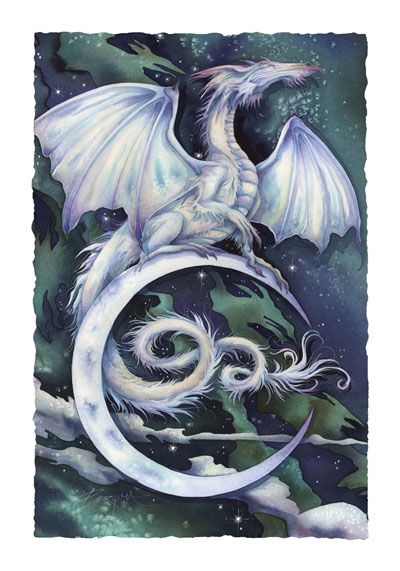 Mythological Creatures (Dragons) / Touch The Moon, Reach The Stars - Art Card