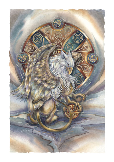 Mythological Creatures (Gryphon) / The Courage Inside Us... - Art Card