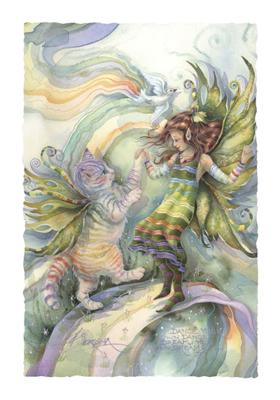 Faeries / Dance Your Own Dance - Art Card