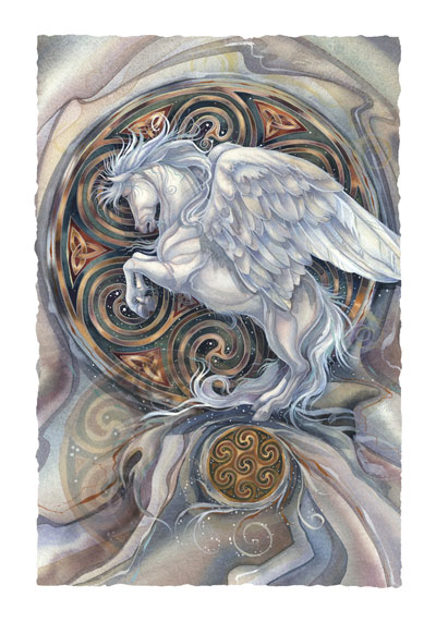 Mythological Creatures (Pegasus) / May Your Dreams Take Flight - Art Card