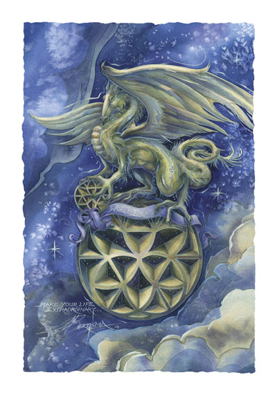 Mythological Creatures (Dragons) / Make Your Life Extraordinary - Art Card