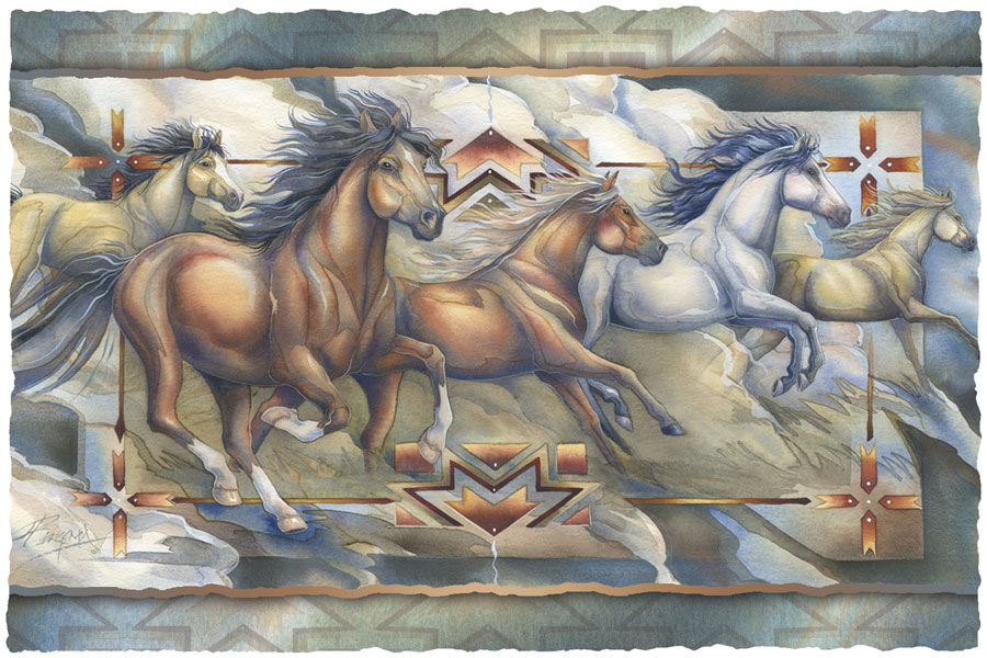 Horses / Let Your Dreams Run Wild - Art Card