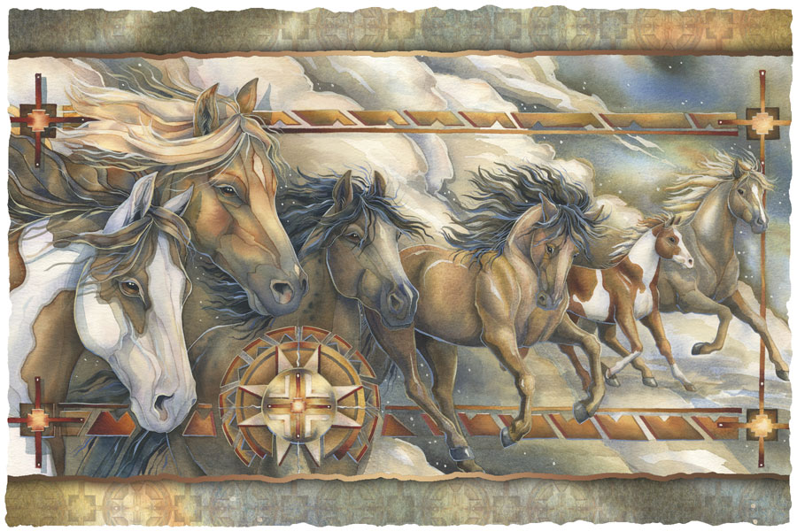 Horses / Companions Of The Wind - Art Card