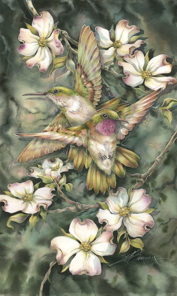 Hummingbirds / Friendship... - Art Card