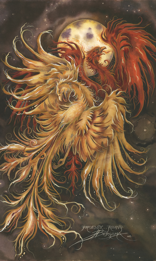 Mythological Creatures (Phoenix) / Phoenix Rising... - Art Card
