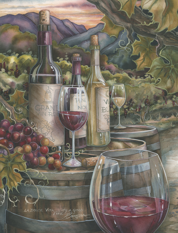 Vineyard / Wine Is Proof - Art Card
