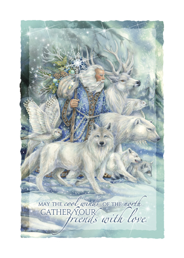 'May The Cool Winds Of The North Gather Your Friends With Love' Holiday Greeting Card