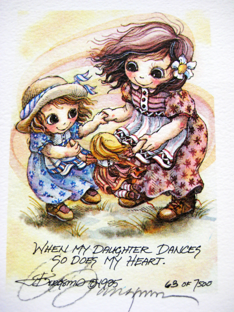 When my daughter dances . . . - DreamKeeper Print
