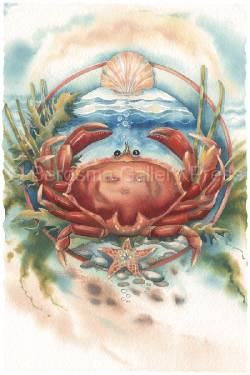 Don't Be Crabby - Art Card