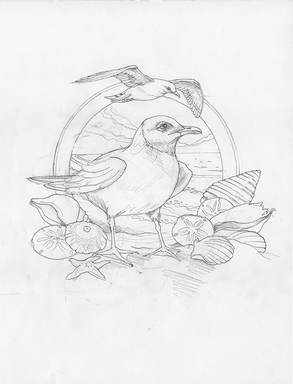 2011/Gulls Just Wanna Have Fun - Original Sketch