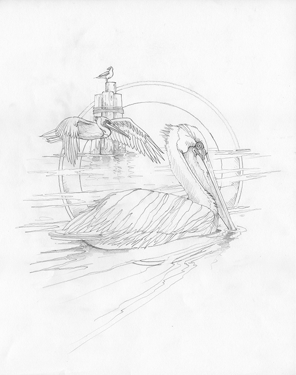 2011/Sentinels of the Sea - Original Sketch
