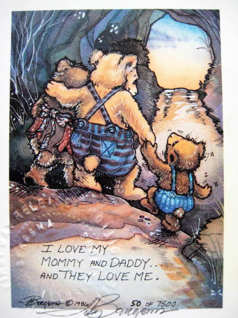 I Love My Mommy and Daddy . . . - DreamKeeper Print
