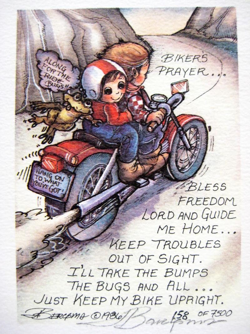 Biker's Prayer . . . - DreamKeeper Print