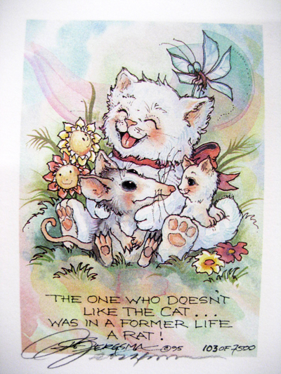 One Who Doesn't Like The Cat... - DreamKeeper Print