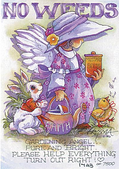 Gardening Angel - DreamKeeper Print