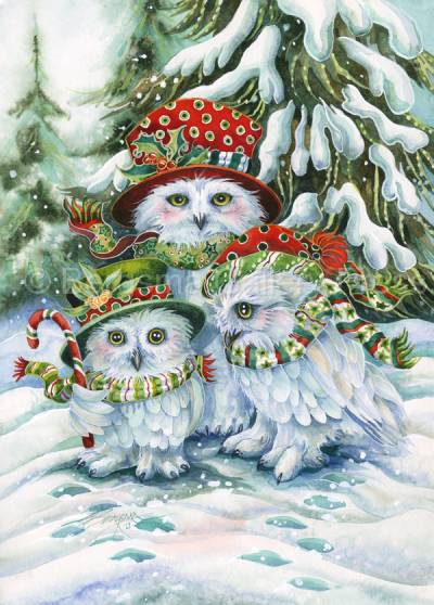 Owl Be Home For Christmas - Prints