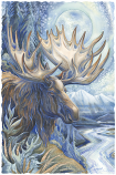 I See A Blue Moose A Rising Small Prints (Click for options & image enlargement)