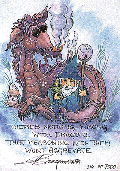 Reasoning With Dragons - DreamKeeper Print