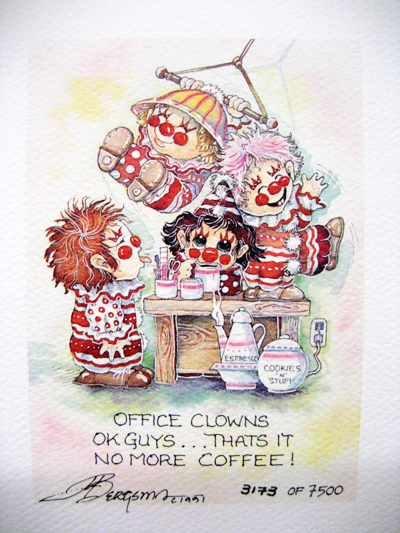Office Clowns - DreamKeeper Print