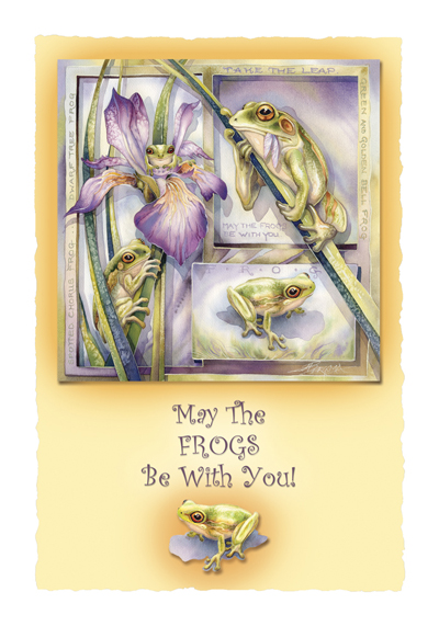 Frogs / May The Frogs Be With You - Art Card