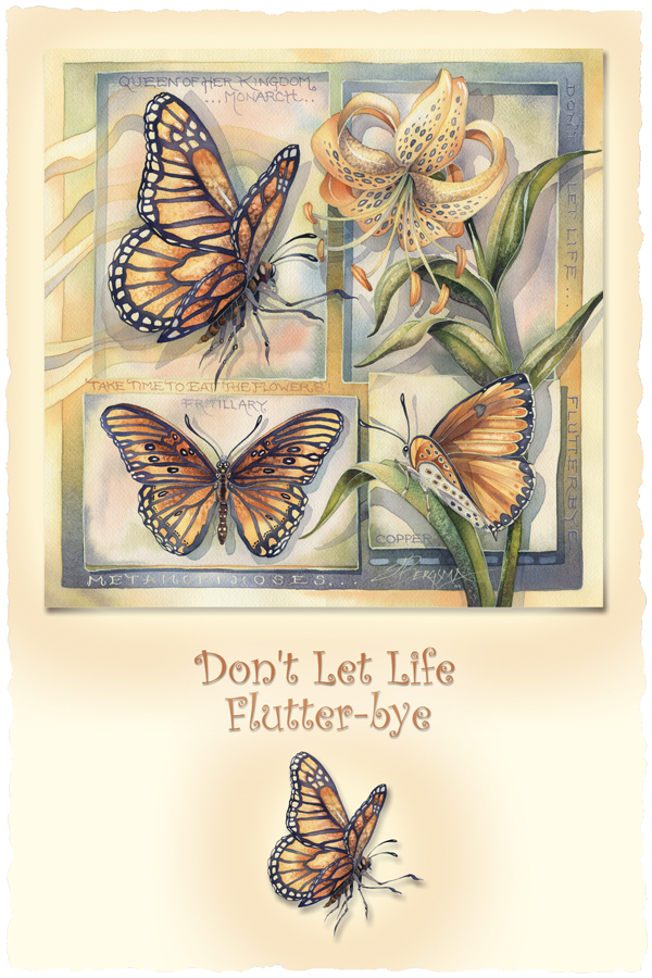 Don't Let Life Flutter-bye - Prints