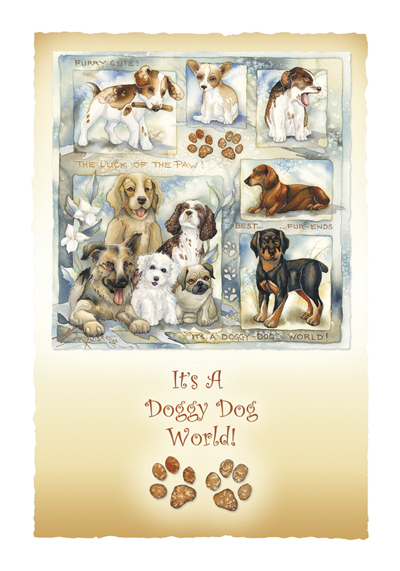 Dogs / It's A Doggy Dog World - Art Card