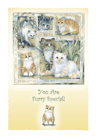 Cats / Be Pawsitive - Art Card