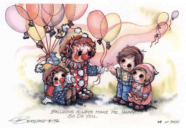 Balloons Make Me Happy... - DreamKeeper Print