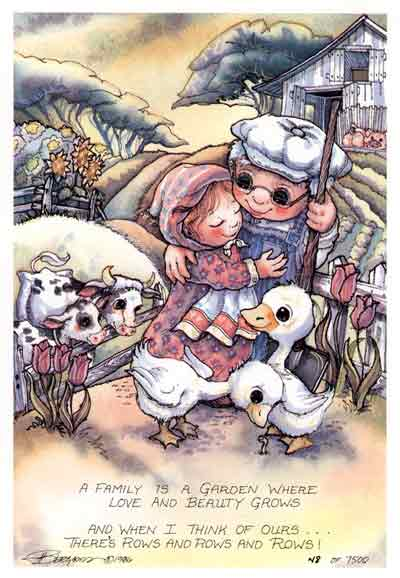 A Family Is A Garden... - DreamKeeper Print